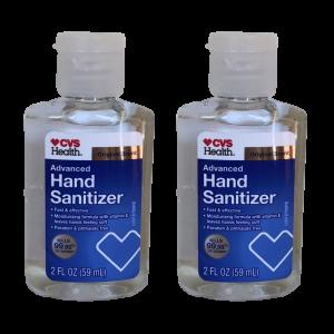 Hand Sanitizer Advanced Formula Original Scent CVS 2oz (2 bottles)